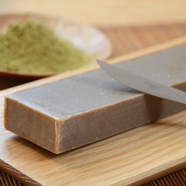 緑茶棒石鹸